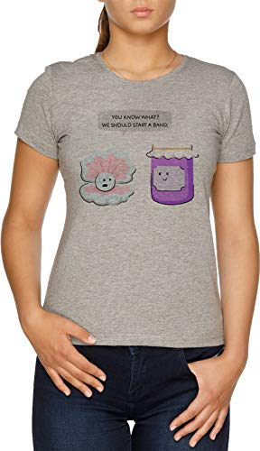 Vendax Pearl and Jam Start a Band Camiseta Mujer Gris