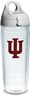 Tervis Indiana University Emblem Individual Water Bottle with Gray Lid, 24 oz, Clear