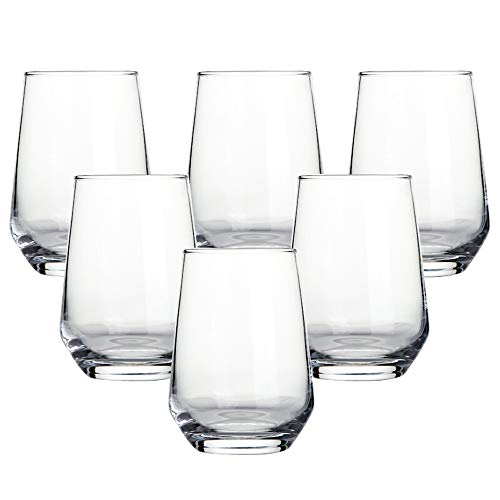 Ecentaur Highball Glasses Beer Juice Glass Base Glassware for Wine Whiskey Water Cocktails Beverage Drinking Clear Tall Glasses Tumbler Set of 6