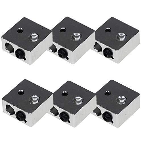 6 Pz Alluminio Riscaldatore Blocco Sensore Stampante 3D Blocco Riscaldatore per MK7 MK8 Stampante 3D Estrusore
