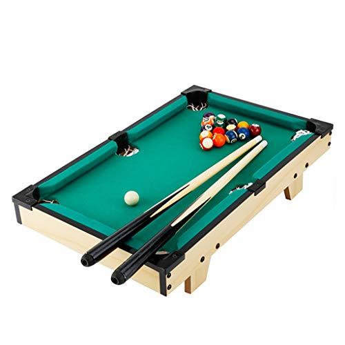 LHR888 Snookertisch Kinder Billardtisch Hohe Qualität Holzfaserplatte Standard Skala Ball Massivholz Tragen Club hochwertigen Flanell Geschenk Für Kinder ( Color : Green , Size : 78.5*43*17CM )