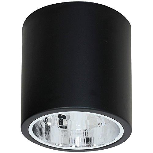 Elegante Deckenleuchte in Schwarz Bauhausstil 1x E27 bis zu 60 Watt 230V aus Metall & Flur Küche Esszimmer Lampen Leuchte innen Beleuchtung