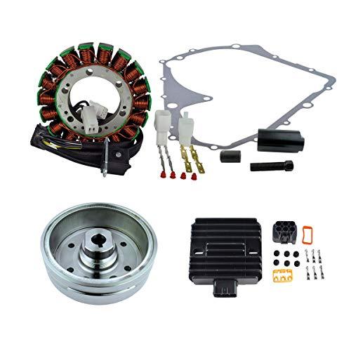 RMSTATOR Replacement for Kit Improved Flywheel + Flywheel Puller + Stator + Voltage Regulator Gasket Suzuki LTA 400 Eiger 4x4 Auto 2002-2007
