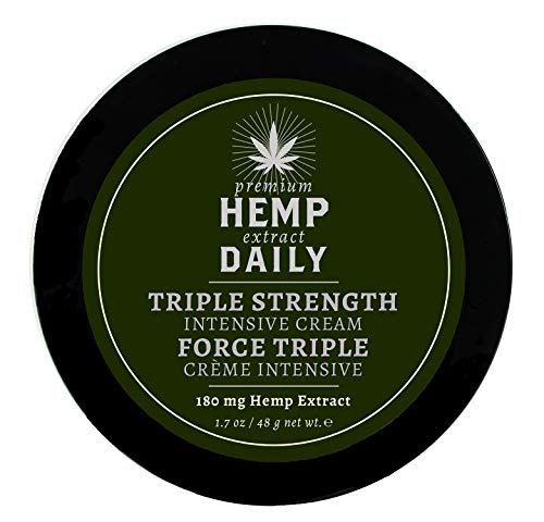 Hemp Daily Intensive Cream | Triple Strength Intensive Hemp Cream with Essential Oils | Vegan, Organic Ingredients, Calming, Use for Muscle Pain and Anxiety Relief | 1.7 Ounces, 1 Pack