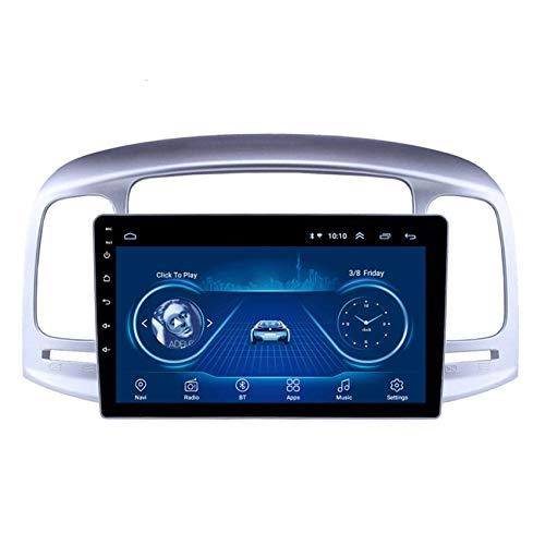 JALAL Navegador GPS para Coche Doble DIN para Hyundai Accent 2006-2011 Pantalla táctil 2.5D con teléfono móvil Bluetooth Manos Libres FM Am DSP Subwoofer Soporte Cámara de visión Trasera de Re