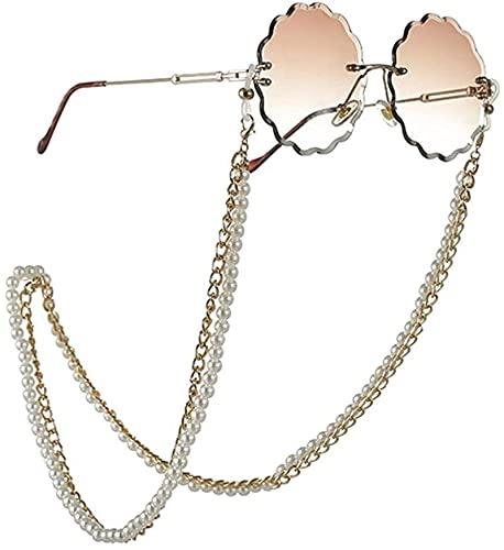 Cordón de Cadena para Gafas de Perlas Multicapa para Gafas, Correa para Gafas, Cordones para Gafas de Sol, Accesorios para Gafas Casuales