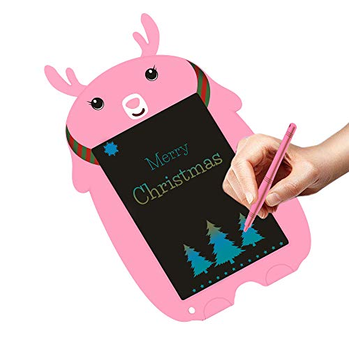 JRD&BS WINL 8.5 inch Writing Board Drawing Board Doodle Tablet Toys for Kids,Birthday Gift for 4-8 Years Old Kids,Adults Color LCD Writing Tablet with Stylus Smart Paper for Drawing Writer,Pink 6DC