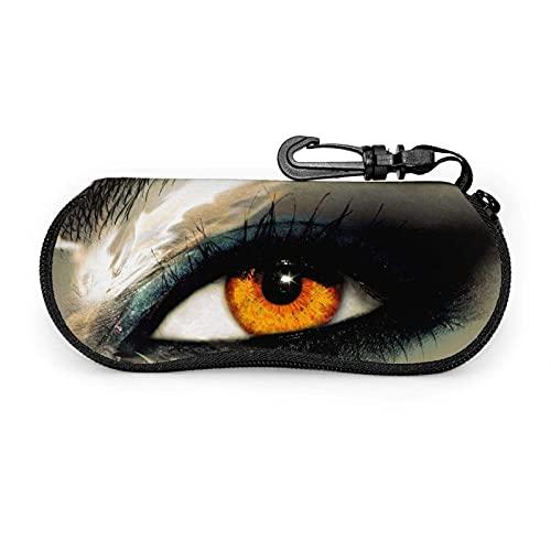 Tcerlcir Estuche para gafas Estuche para gafas de instrumentos musicales estéticos para mujer Estuche para gafas con mosquetón 17X8cm