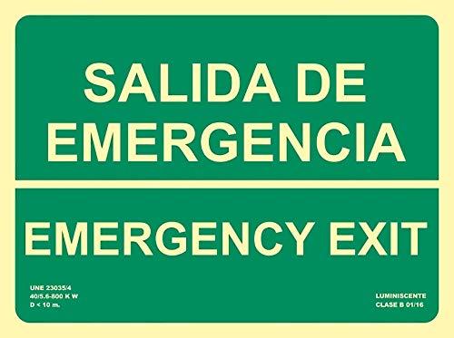/Exit Placa de espuma r/ígida de PVC 300/x 200/mm/ /3/mm de grosor Cartel salida de emergencia derecha/