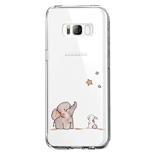 JEPER Kompatibel für Galaxy S8 Hülle, S8 Handyhüllen Crystal Clear Ultra Dünn Flexibel Silikon Case Transparent Premium TPU Weiche Schutzhülle Slimcase Tasche für Galaxy S9 (S8, 08)