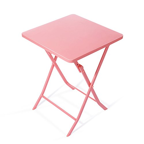 LiuJianQin ZDZ Table Pliante/Petite Table carrée/Fer Table d'art de Rouille de Pliage/Bureau d'ordinateur/Table de décoration à la Maison / 55 * 55 * 71CM (Couleur : Vert)