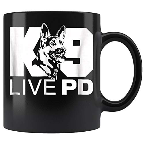 Police Dog - German Shepherd - Live PD - K9 Coffee Mug 11oz Tea Cups Gift