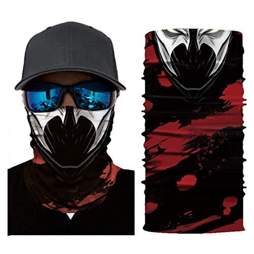 LOOVEE Stylische Mundschutz Halstuch, Kopftuch, Bandana, Balaclava für Motorrad Skifahren Radfahren Nahtlose Multifunktionstuch Schlauchtücher Bedruckt Sport Totenkopf (AC036)