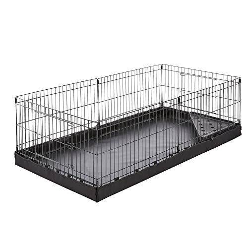 AmazonBasics Indoor-Outdoor Small Pet Habitat Cage with Canvas Bottom, Black