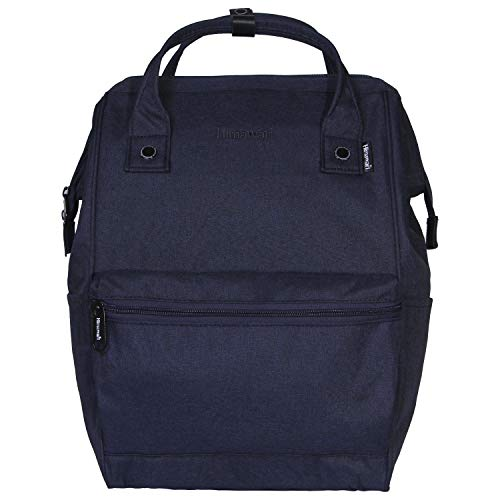 Himawari Polyester Backpack Unisex Vintage School Bag Fits 13-inch Laptop Scrub Navy-USB