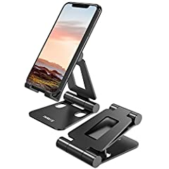 "UNIVERSAL COMPATIBILITY: This phone stand works with all 4-10"" Smartphones Tablets and e-readers, such as iPhone 11 Pro Xs Xs Max Xr X 8 7 6, Switch, iPad mini, Samsung Galaxy S10 /S10+/S9 /S9+/S8 /S8+, Samsung Tab, Google Nexus, Kindle. ADJUSTABLE &..."