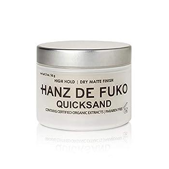 Hanz de Fuko Quicksand  Premium Men's Hair Styling Wax and Dry Shampoo Combo with Ultra-Matte Finish  2oz