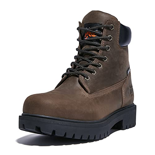 Timberland PRO Men's Direct Attach 6 Inch Steel Safety Toe Insulated Waterproof Industrial Work Boot, Brown, 11.5