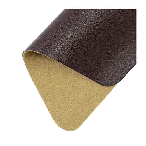 LYRWISHLTD Tejido Suave de Cuero sintético Tela de Cuero PU Impermeable Polipiel Tela para Muebles, sofás, sillas Telas de tapiceria Coche tapizando el sofá(1.38X1m/4.52X3.28ft)