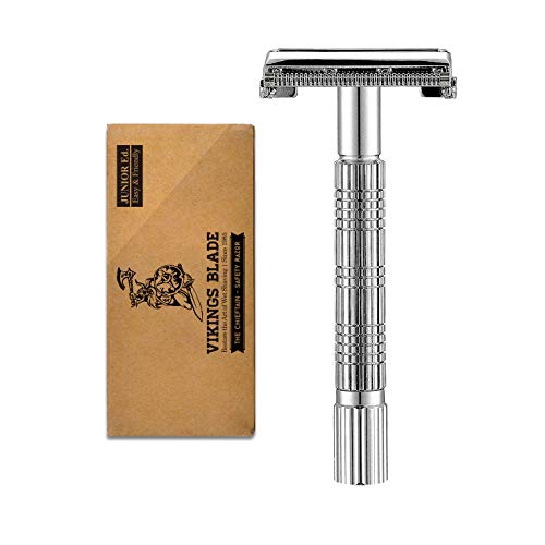 VIKINGS BLADE The Chieftain JR Double Edge Safety Razor (Slim & Mild)