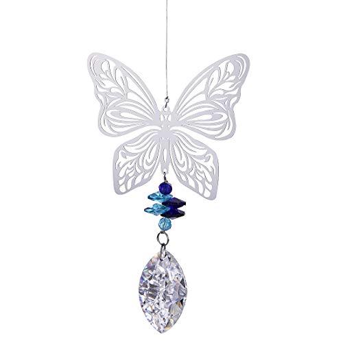 H&D Metall Schmetterling Anhänger Kristall Sonnenfänger Regenbogenmacher Hängend Fenster Dekor
