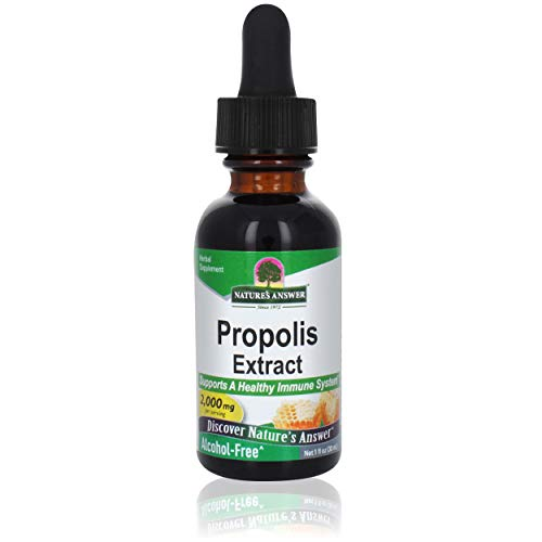 Nature's Answer Propolis Resin Extract   Herbal Supplement   All-Natural Immune Support   Vegan, Alcohol-Free & Gluten-Free 1oz (2 Pack)