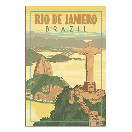 Vintage Travel Posters Rio De Janeiro Brasil pared arte lienzo impresiones Familia moderna oficina dormitorio cuadro enmarcado regalo decorativo pintura carteles