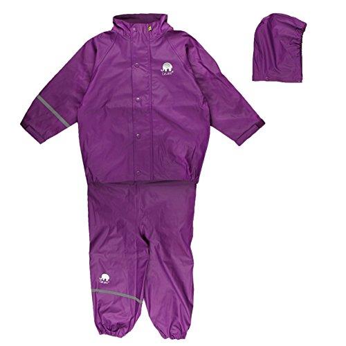 CeLaVi Baby - Mädchen CeLaVi zweiteiliger Regenanzug in vielen Farben Regenjacke,,per pack Violett (Purple 631),(Herstellergröße:80)