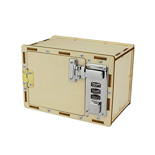 Toyvian Kits de Modelo DIY Caja de contraseña mecánica Caja de Rompecabezas 3D Educación e ingeniería Alcancía para niños