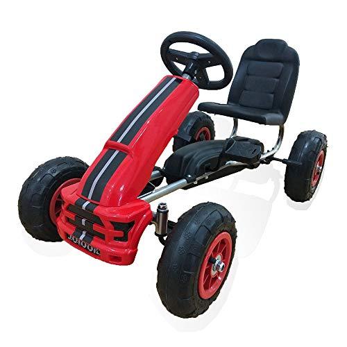Moni Go-Kart per Bambini Nevada Rosso, Auto a Pedali, Pneumatici, Freno a Mano a Partire da 3 Anni