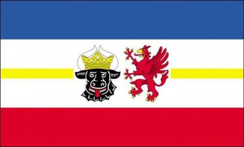 AZ FLAG Flagge Mecklenburg-Vorpommern 90x60cm - Mecklenburg-Vorpommern Fahne 60 x 90 cm - flaggen Top Qualität