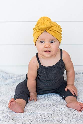 DRESHOW 3 Pezzi Baby Cappelli Turbante Simpatici e Accoglienti Berretti e Cappellin per Infantile Bambino Neonato Ragazza