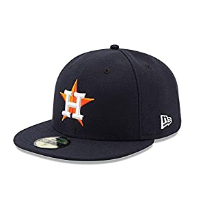 New Era 59FIFTY Houston Astros Navy MLB 2017 Authentic Collection On Field Home Fitted Cap Size 7 5/8