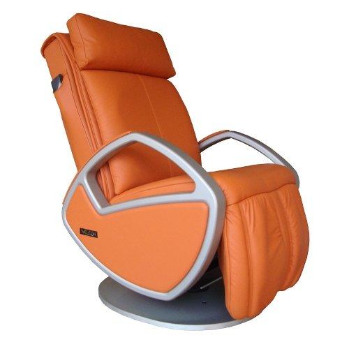 Luxus Sillón de masaje | Silla de masaje Shiatsu con piel naranja Welcon Space by Keyton