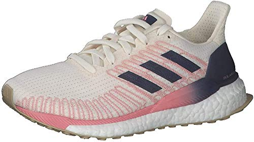 adidas Solar Boost 19 W, Zapatillas de Running Mujer, Chalk White/Tech Indigo/Glory Pink, 39 1/3 EU