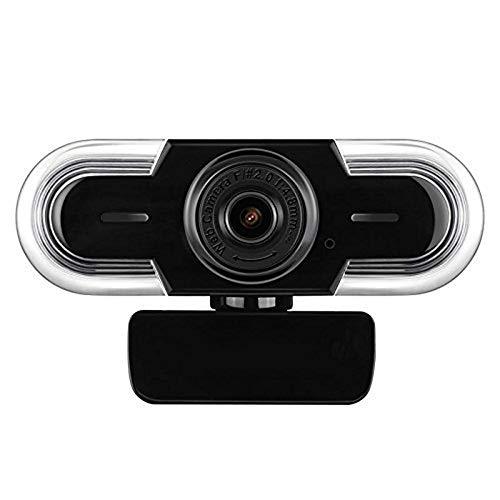 pb+ Webcam 2K HD con Microfono, Messa A Fuoco Manuale,Esposizione Automatica, Chat E Registrazione Video Videocamera USB, Compatibile con Windows, Mac OS E Android