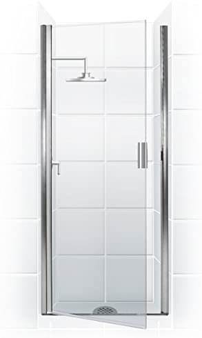 Coastal Shower Doors Pqfr24 66b C Paragon Series Semi Frameless Continuous Hinge Shower Door In Clear Glass 24 X 65 Chrome Amazon Com