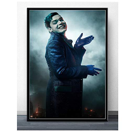 A&D Gotham Season Series USA Heißer Jeremiah Valeska Charakter Poster Wandkunst Drucke Leinwand Leinwand Für Hauptwanddekor-50x70 cm Kein Rahmen