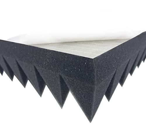Pyramidenschaumstoff SELBSTKLEBEND TYP 100x50x7 Akustikschaumstoff Schalldämmmatten zur effektiven Akustik Dämmung