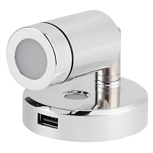 Lámpara para barco, lámpara de lectura marina impermeable con carga USB para barco para cabecera