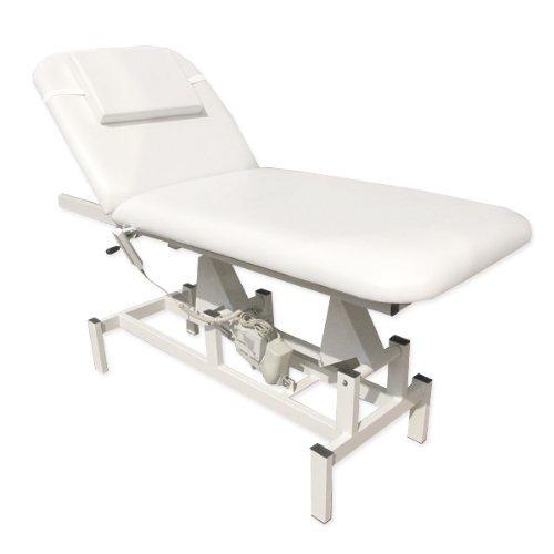 eyepower Elektrische Massageliege 185x72 Kosmetikliege Behandlungsliege Weiß