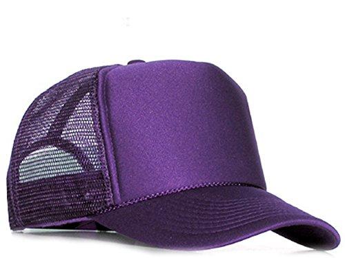 Raphia Art Casquette en maille violet
