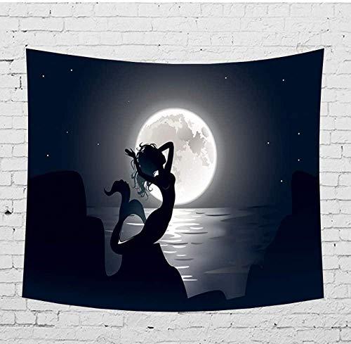 DUQQ Tapiz Simple Animal Series Montaje en Pared Clásico Negro Dormitorio Decoración Multifunción Colgante Paño Fondo Yoga Estera Alfombra 200×150cm