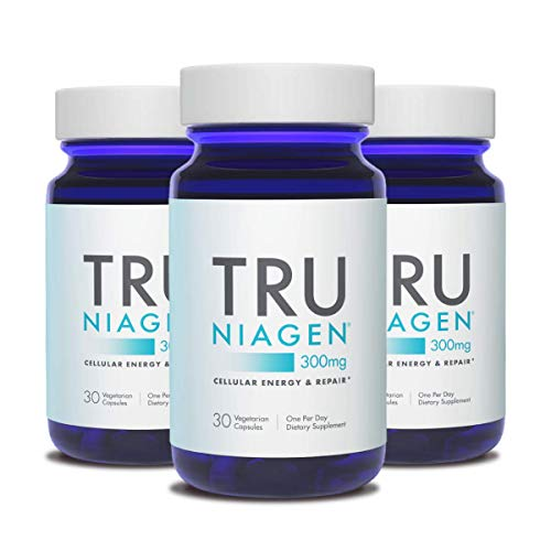 41qmxSta3SL - TRU NIAGEN Nicotinamide Riboside NAD Booster for Cellular Repair & Energy (NSF Certified for Sport) - 300mg Vegetarian Capsules, 300mg Per Serving - 30 Day Bottle (3 Pack)