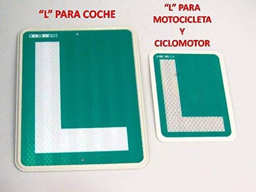 Placa L Conductor Novel para Moto CICLOMOTOR HOMOLOGADA V-13-019 ELE Reflectante Motocicleta