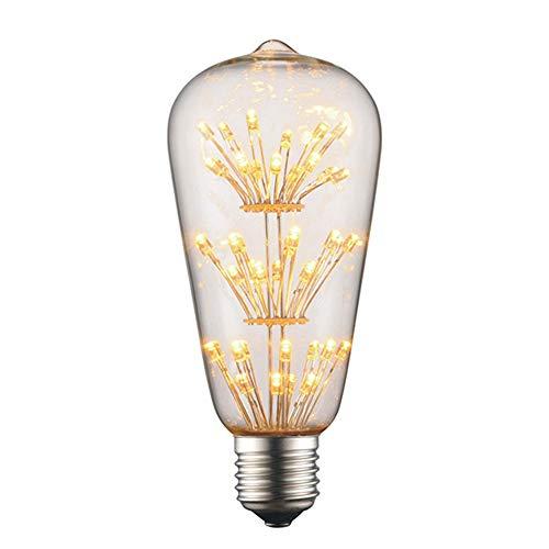 HJXDtech Antik LED Edison Glühbirne Vintage Stern Dekorative Lampe 2W, E27, 220V 2200-2400K Warmweiß, 100LM, Ideal für Antik Beleuchtung (ST64)