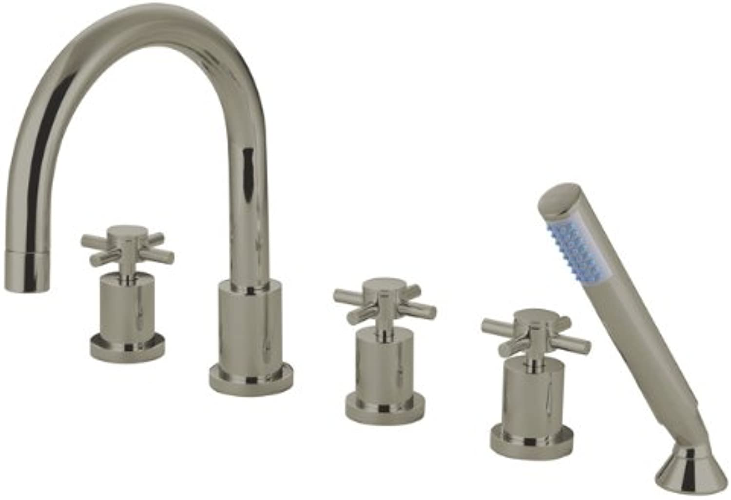 Kingston Brass KS83285DX Concord Roman Tub Filler 5 Pieces, Brushed Nickel
