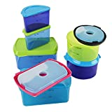 Fit & Fresh Kids' Reusable Lunch Container Kit with Ice Packs, 14-Piece Set