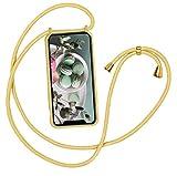 通用 Compatible con Funda con Cuerda Huawei P20 Lite Carcasa Fundas Silicona Ajustable Cordon Collar Correa de Cuello Rosa Antigolpes Tapa (Huawei P20 Lite, Yellow)
