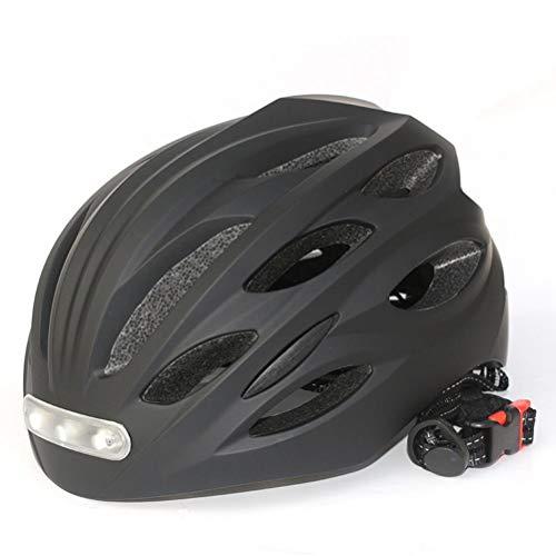Casco de Bicicleta con Luz LED Recargable, Gorra de Seguridad Deportiva, Casco de Ciclismo Nocturno,Commuter Casco,Protección para Montar Unisex Cascos Bici